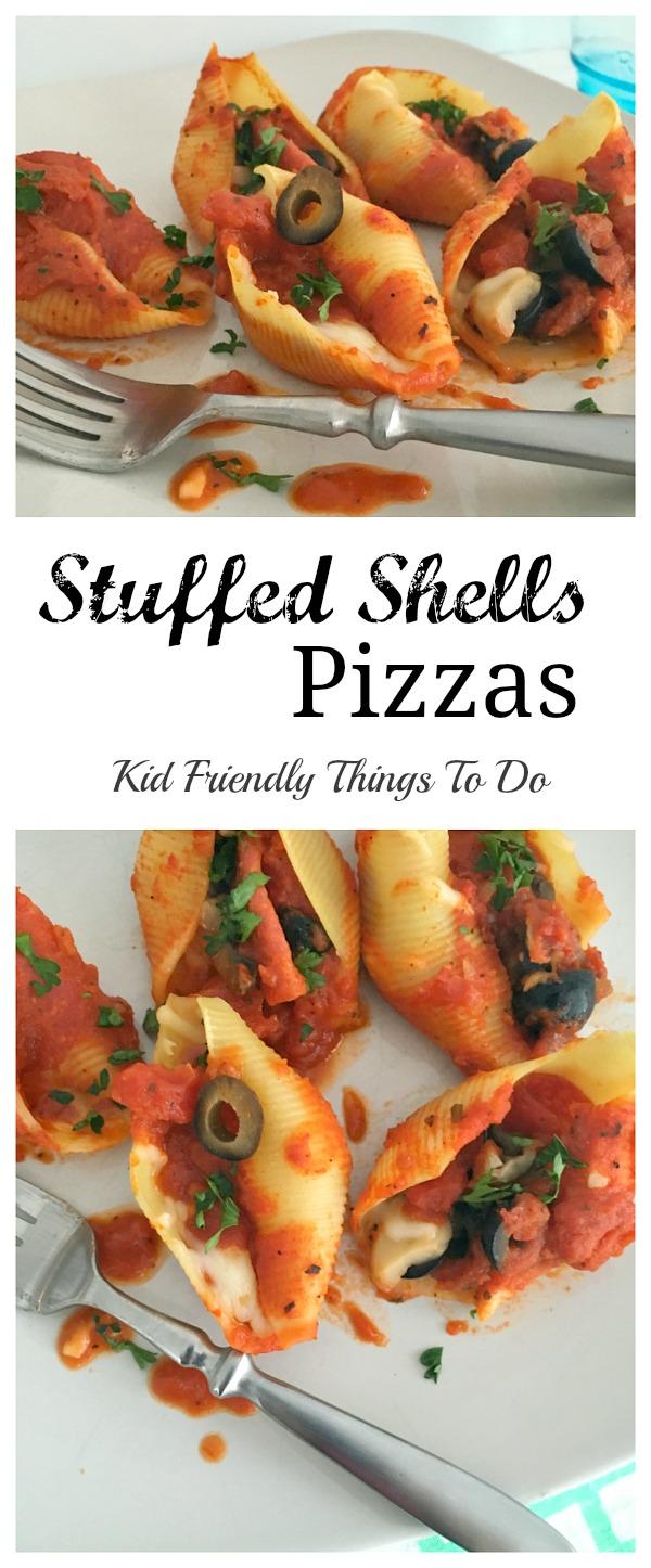 Stuffed Shells Individual Pizza Recipe - KidFriendlyThingsToDo.com