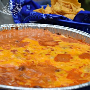 3 Ingredient Bean and Cheese Easy Camp dip Recipe or for your grill. Perfect for summer parties, Memorial Day, Fourth of July and Labor Day get togethers with family and kids. www.kidfriendlythingstodo.com