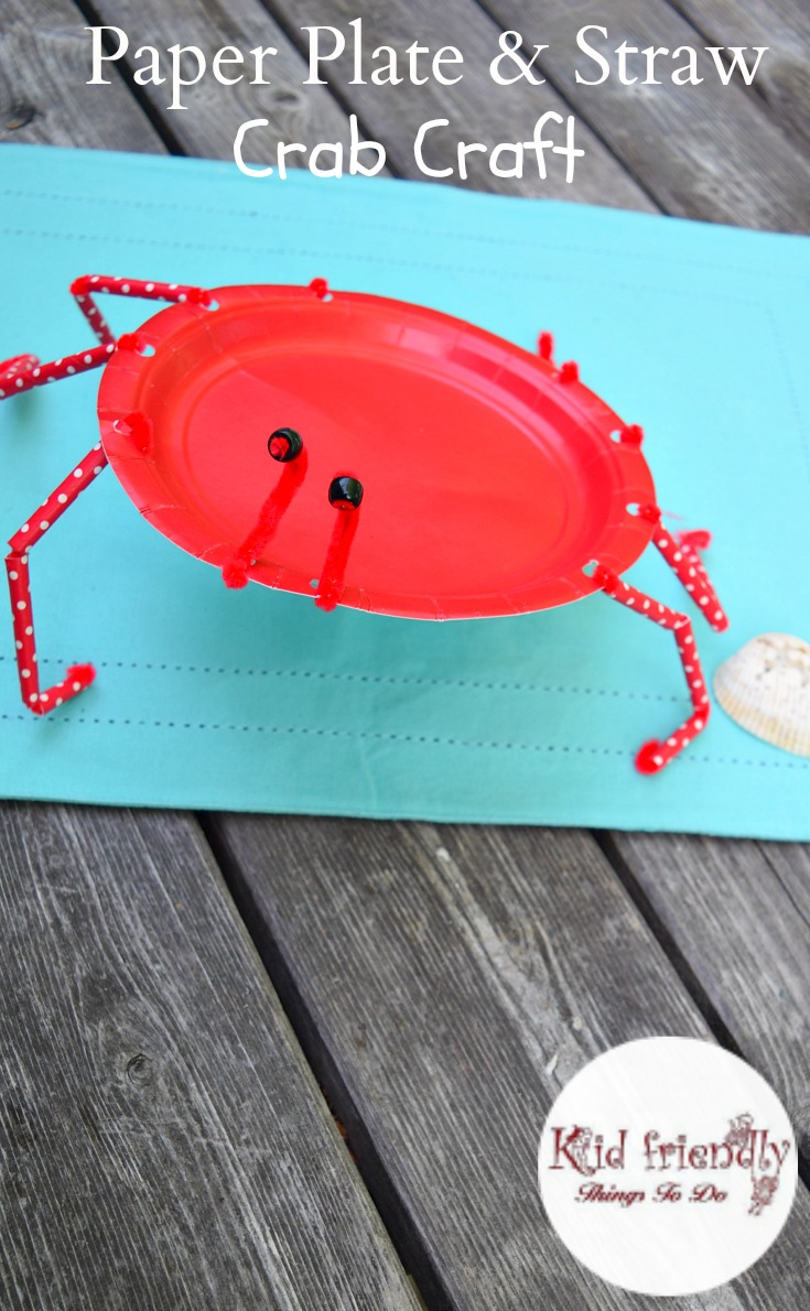 a paper plate crab craft for kids to make