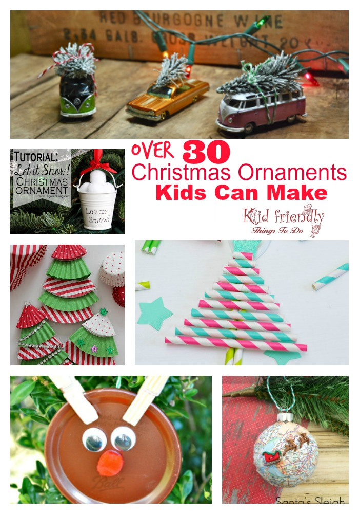 Over 30 easy and fun christmas ornaments for kids to make for Where can i find christmas decorations