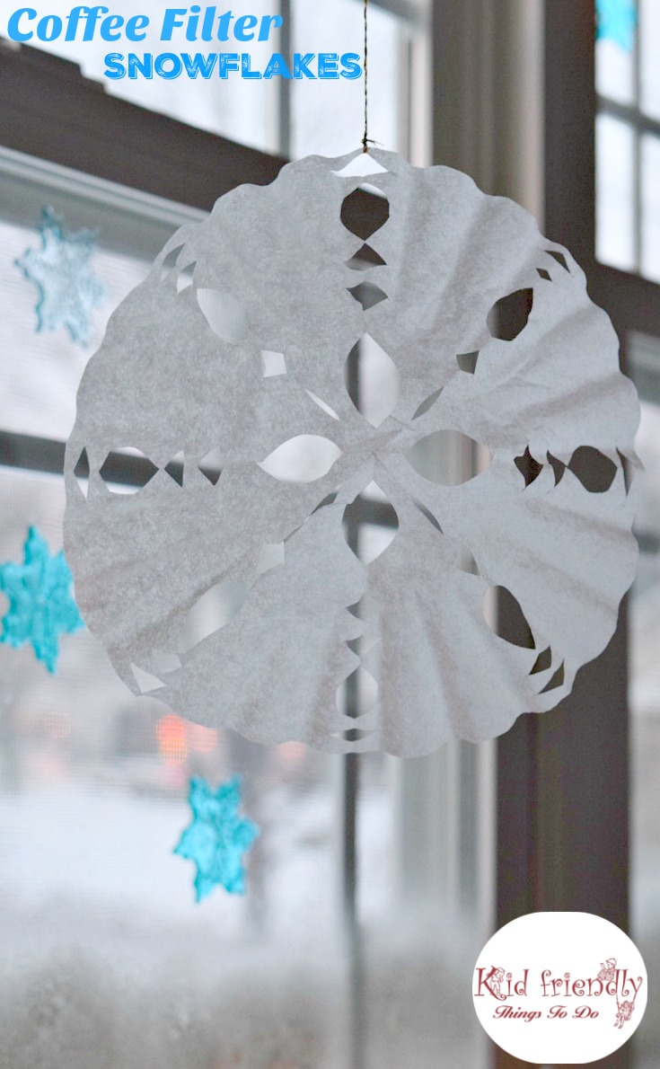 How To Make A Snowflake Out Of A Coffee Filter Craft