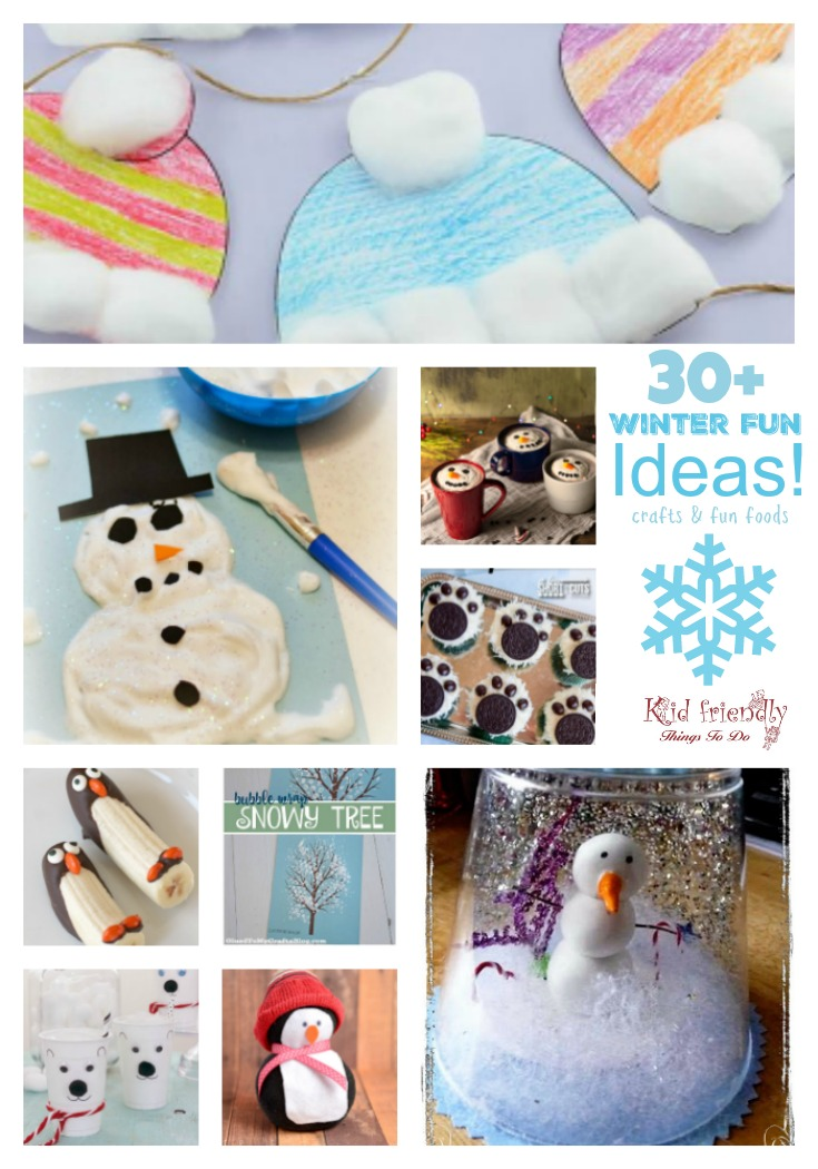 Winter Craft Ideas For Kids Part - 19: Easy Winter Themed Crafts For Kids To Make And Fun Food Treat Ideas To  Brighten The