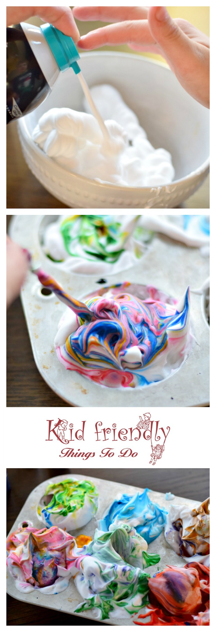 How To Dye Easter Eggs With Shaving Cream or Whipped Cream