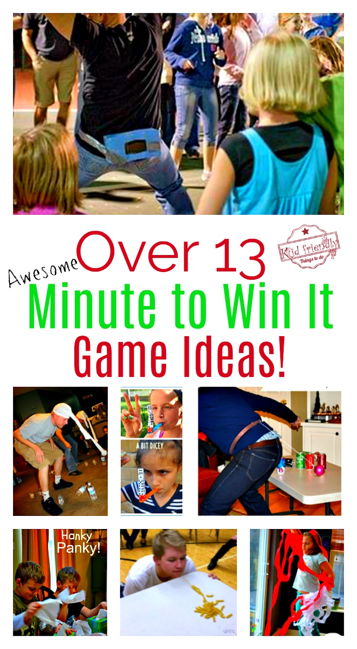Minute to Win it Games for the Classroom Ideas or Family ...