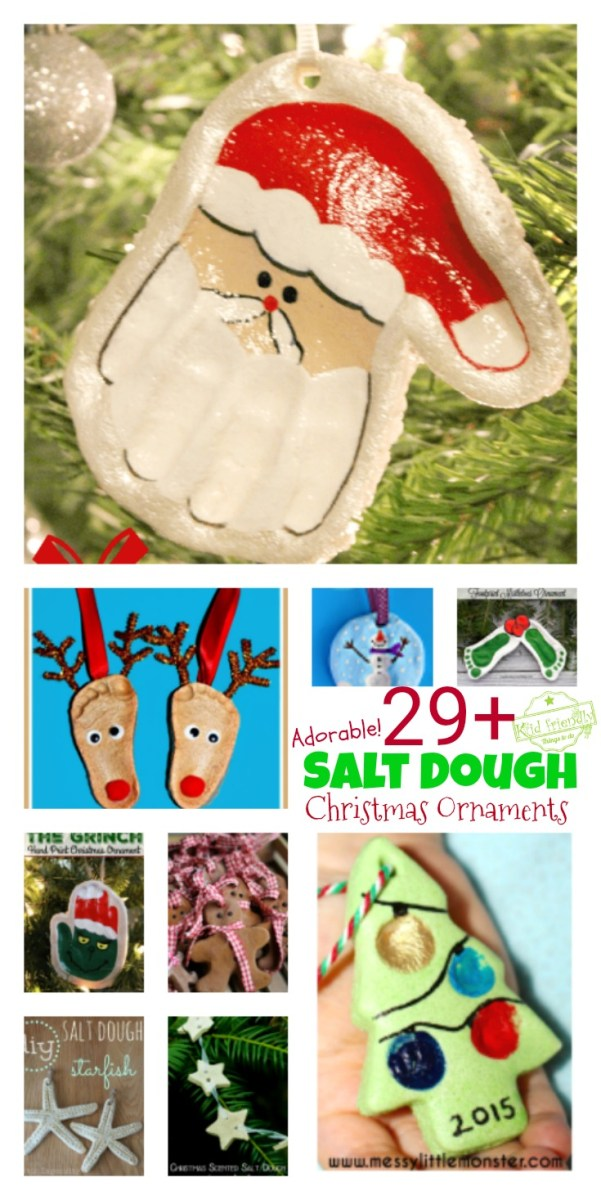 Over 29 Salt Dough Ornaments that Kids Can Make for the Christmas Tree
