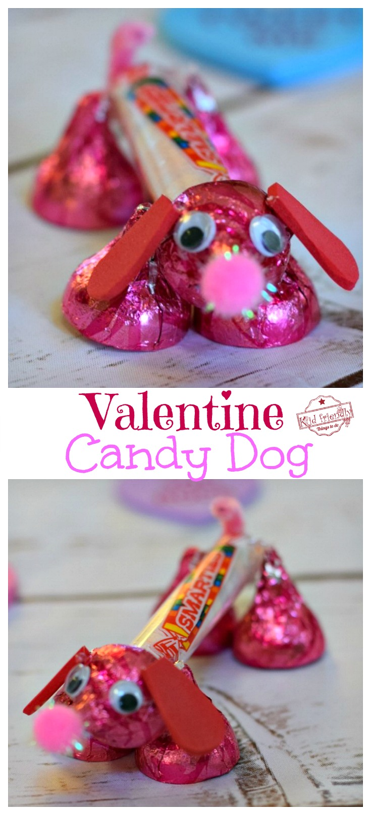 Make A Valentine's Candy Dog For A Fun Kid's Craft And Treat