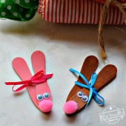Wooden Craft Spoon Bunnies for An Easter Craft To Make