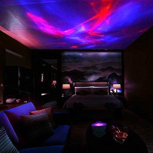 SCOPOW Night Light Lamp Aurora Projector And Speaker
