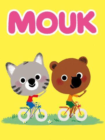 Mouk et son ami qui font du vélo