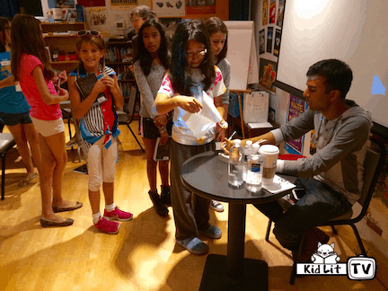 Thalia Book Club Camp signing with Soman Chainani
