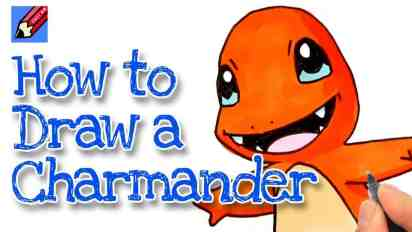 How to draw a Charmander Real Easy – Pokemon Go!
