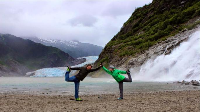 glacier yoga in alaska