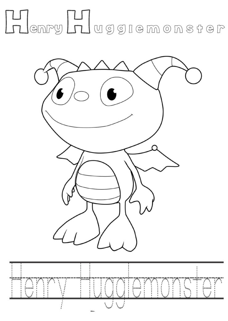 Printable cartoon henry hugglemoster coloring pages