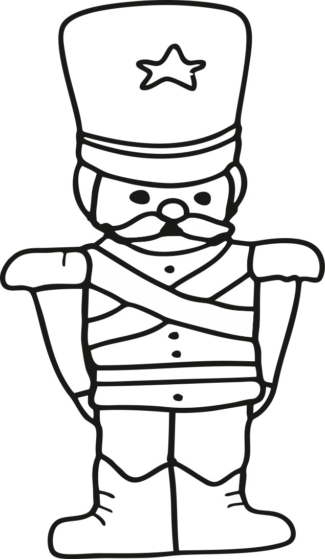 christmas toy soldier coloring pages for kids print out