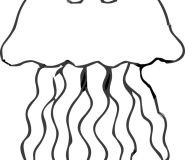 Ocean Jellyfish coloring in page for kids