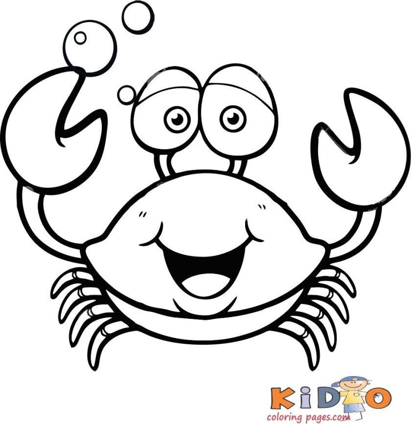 crab pages to color free printable