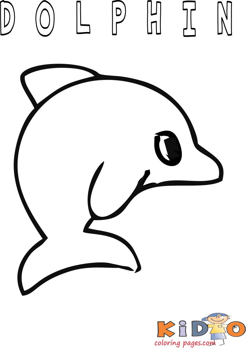 dolphin coloring in page Printable for kids