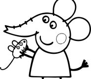 Emily Elephant peppa pig print out coloring pages