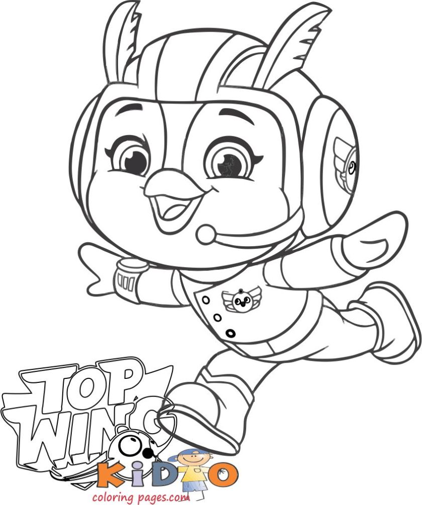 Friday coloring page top wing
