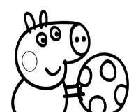 Peppa Pig football coloring pages for kids