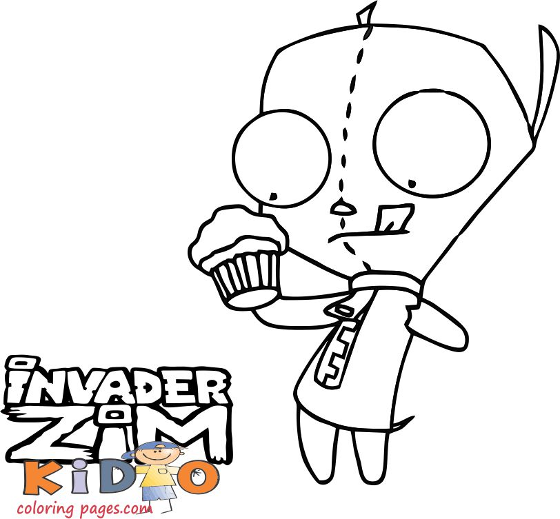 gir invader zim coloring pages online print out