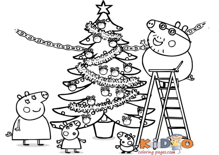 peppa pig drawing easy christmas for kids