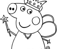 peppa pig fyritare coloring pages to print out