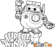 super wings Paul coloring page printable for kids