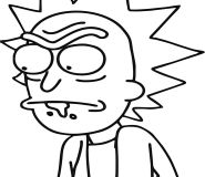 coloring pages rick and morty for printable