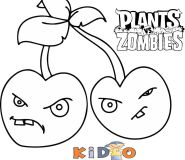 plants vs zombies cherry bombs coloring sheets