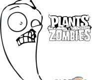 plants vs zombies jalapeno coloring pages to printable