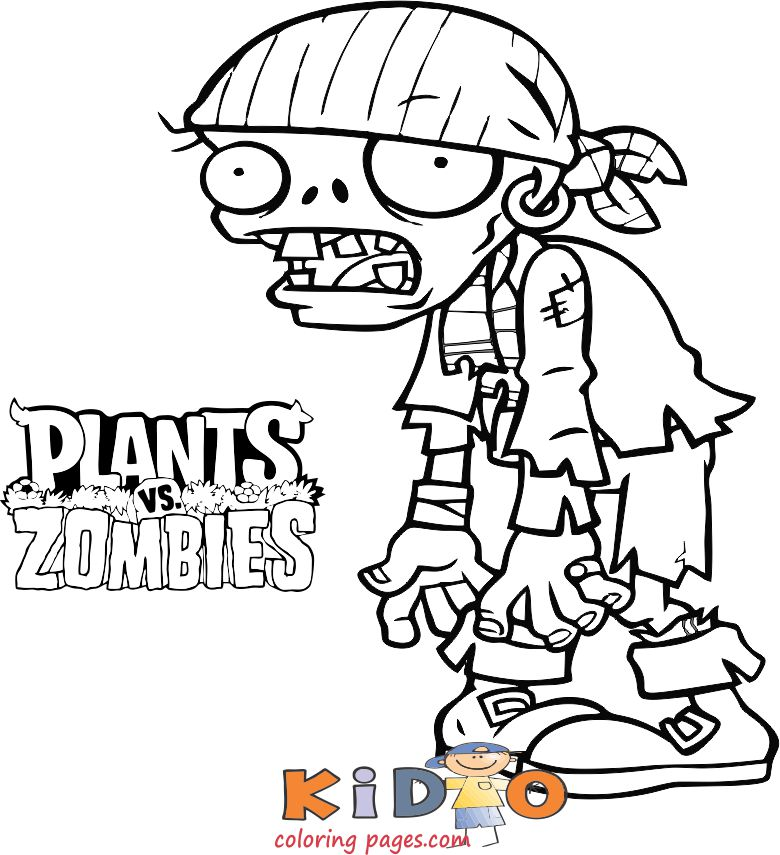 zombie pirate coloring page printable
