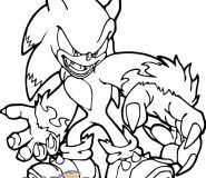 werehog sonic coloring sheets kid