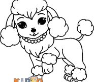 cute coloring pages poodle for kids to printable