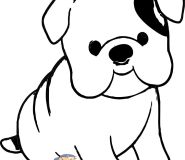 engelsk bulldog coloring pages to print out for kids
