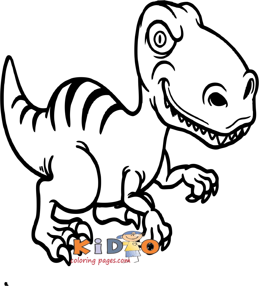 T-Rex dinosaurs pictures to color for kids