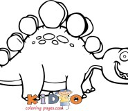 cute dinosaur coloring pages stegosaurus to print out
