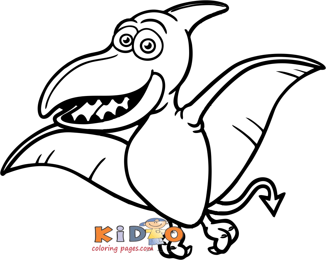 dinosaurs coloring pages pteranodons for kids