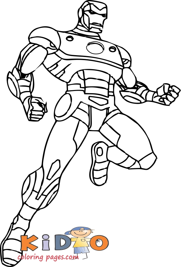 iron man pictures to color for kids printable