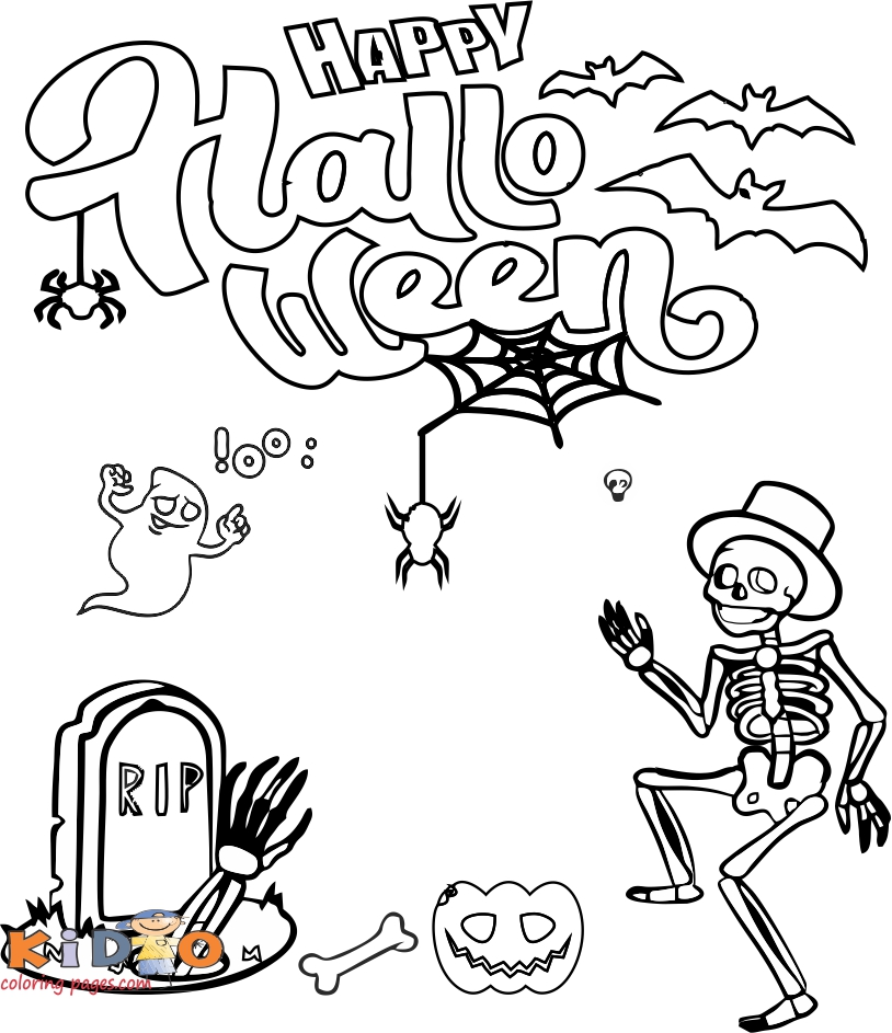 happy halloween ghost coloring pages for kids