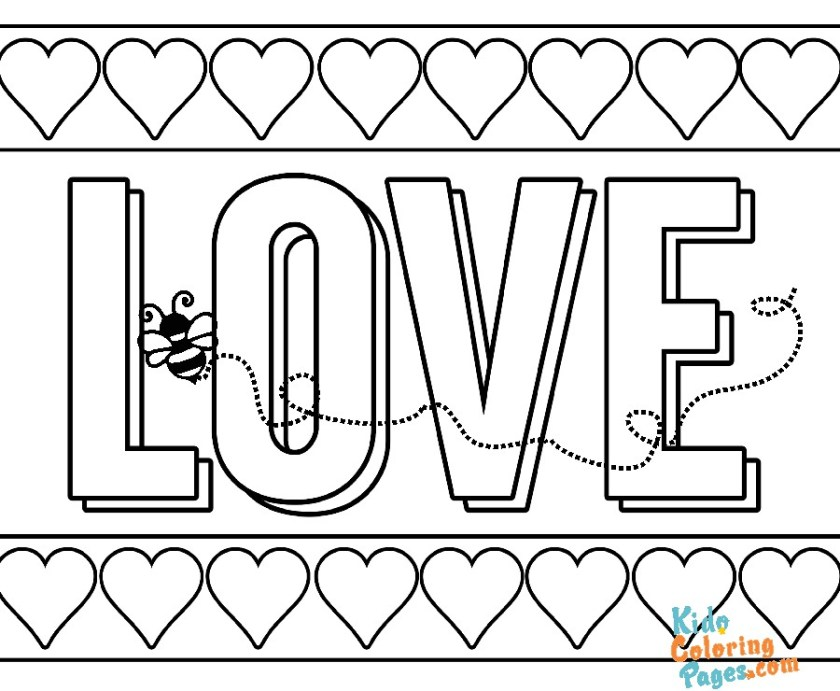 Valentines day i love you coloring pages