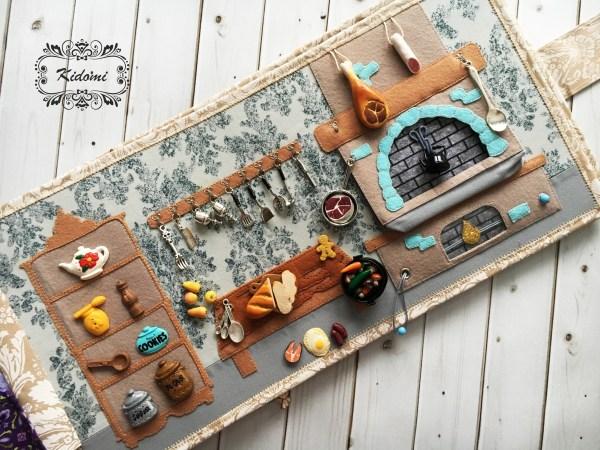 """Развивающая книжка """"Волшебный замок принцессы"""" - кухня. Kidomi"""