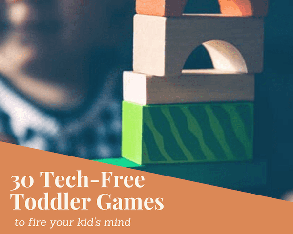tech free games for kids and toddlers
