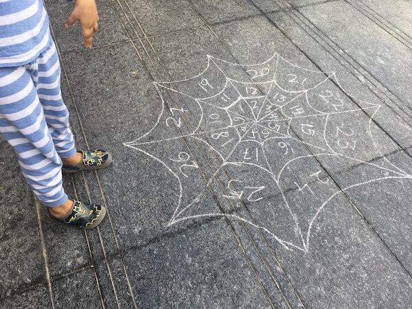 outdoor STEM math game