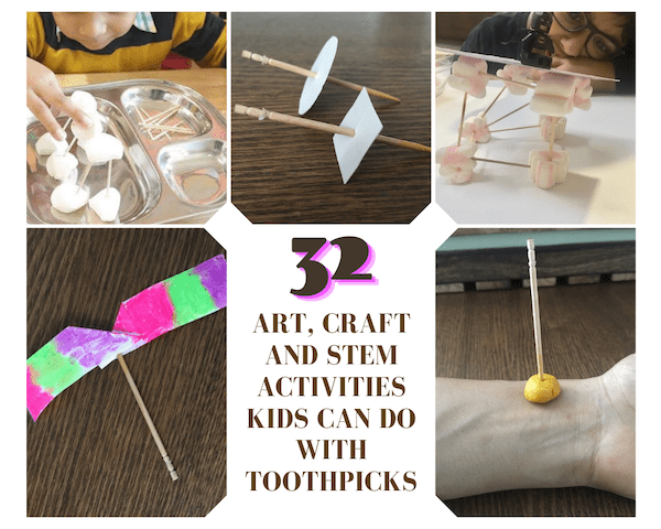 Toothpick activities for kids