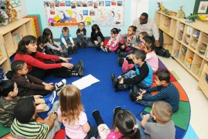 classrom with young children