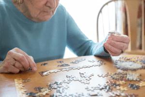 senior with puzzle