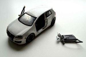 Broken Bburago 1:32 diecast car