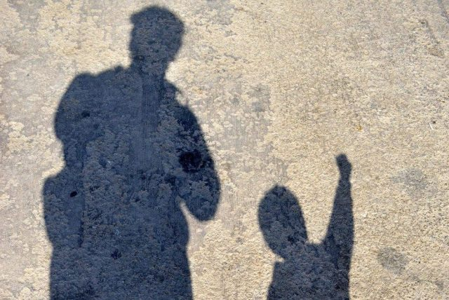 son-father-shadow