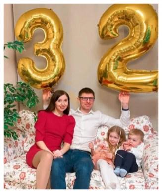 Катя Диденко со своим супругом и детьми